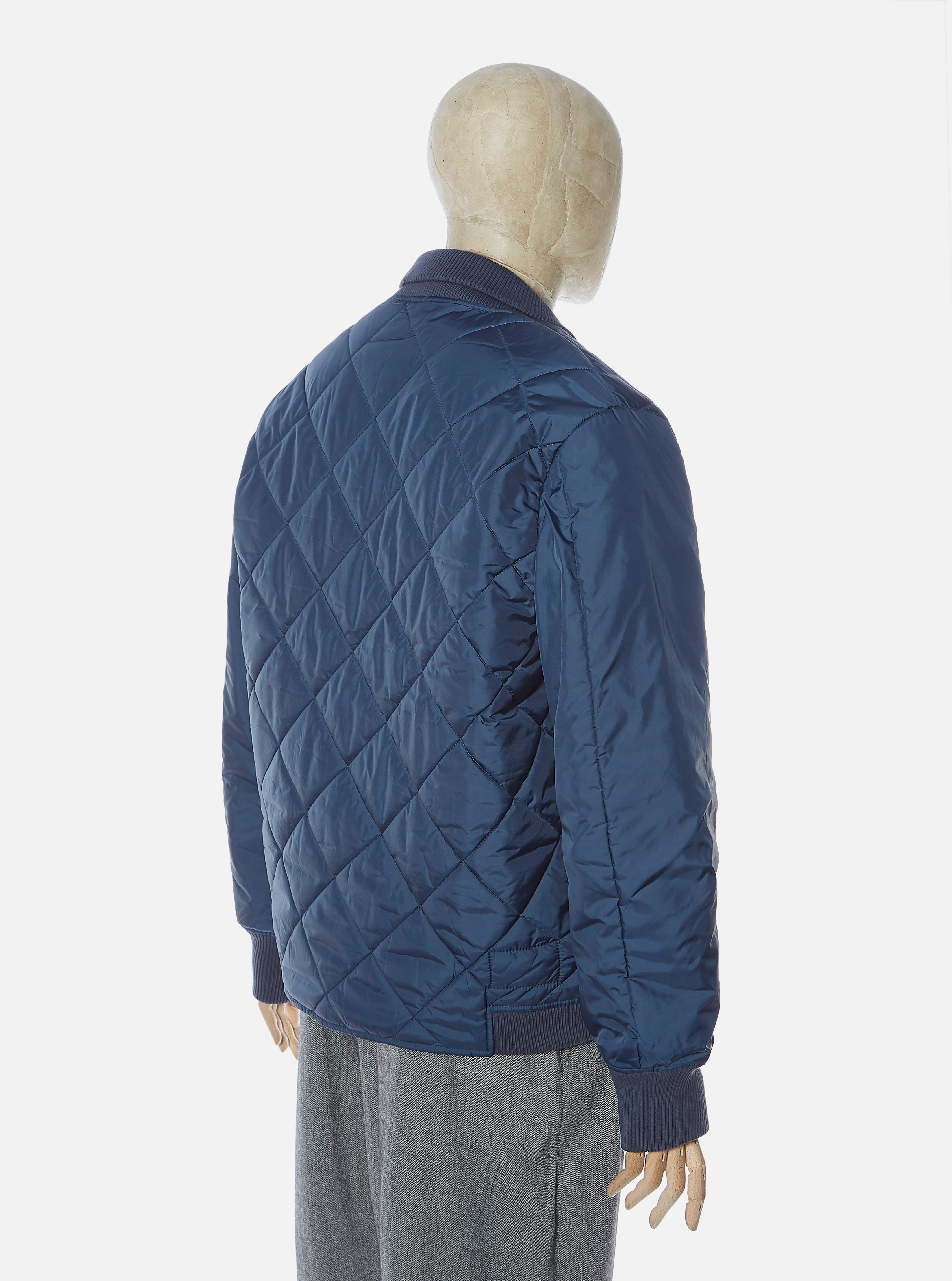 Universal Works Quilt Deck Jacket in Navy Italian WR Nylon