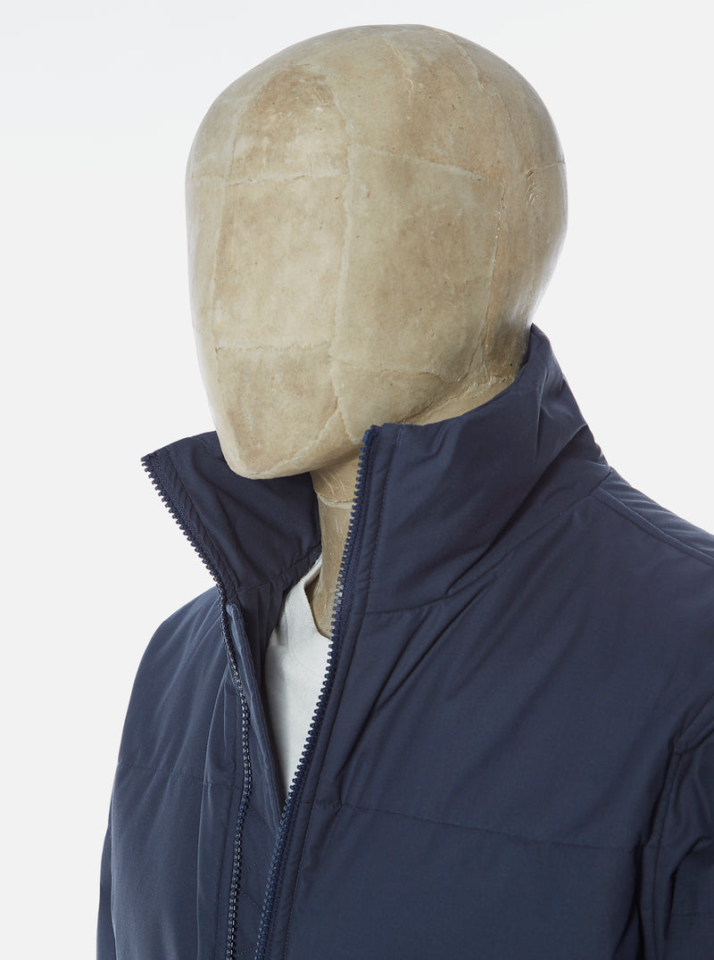 Universal Works Padded Jacket in Navy Olmetex Tech Cotton