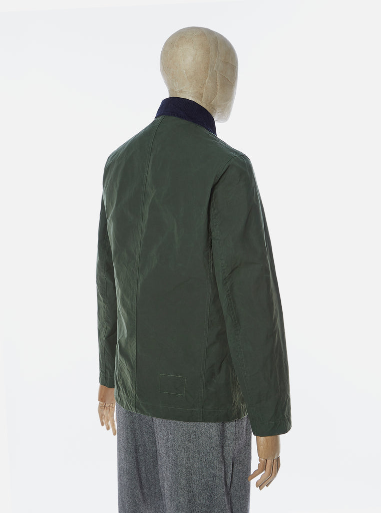 Universal Works Bakers Jacket in Forest Scottish Wax Cotton
