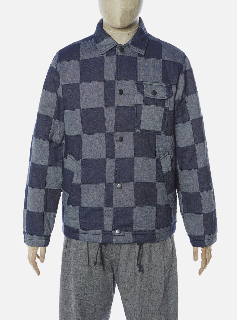 Universal Works Coach Jacket in Indigo Patchwork Denim