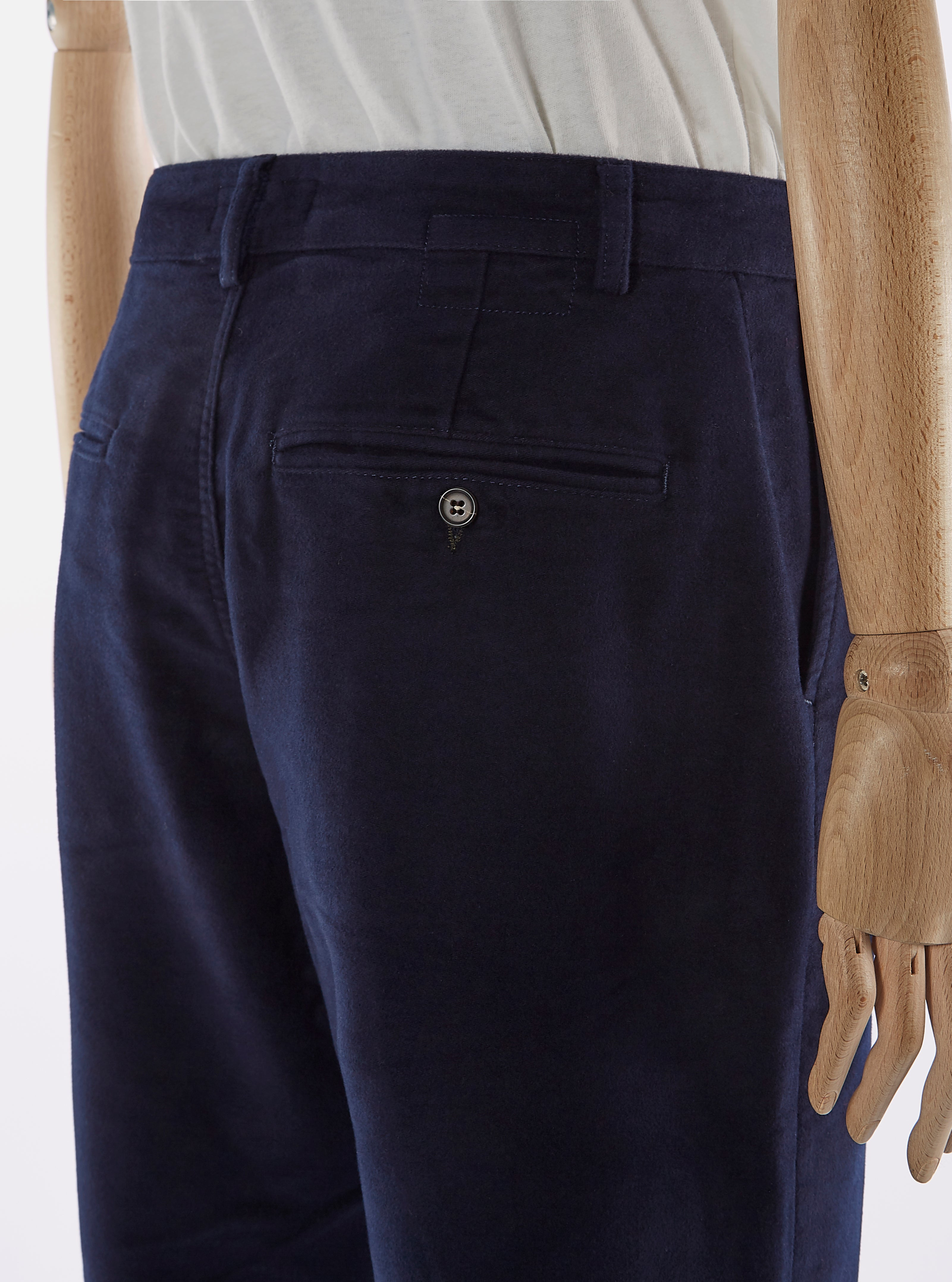 Universal Works Military Chino in Navy Moleskin