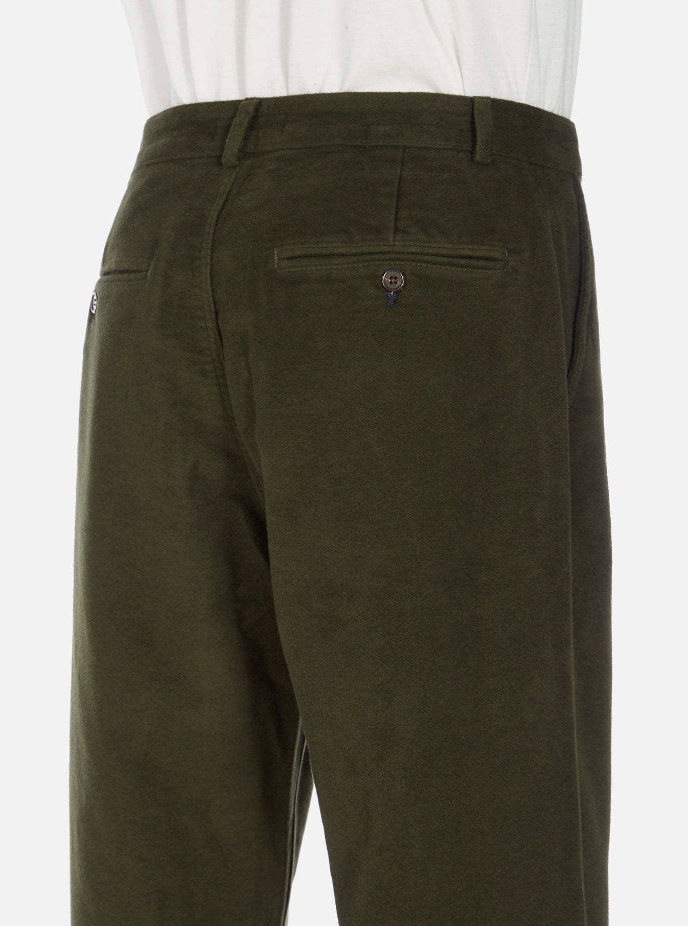 Universal Works Military Chino in Olive Moleskin