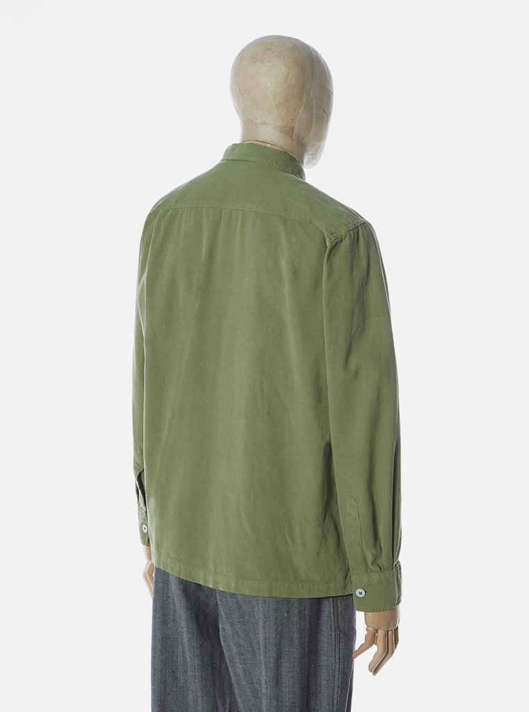 Universal Works Treck Shirt in Olive Super Fine Cord