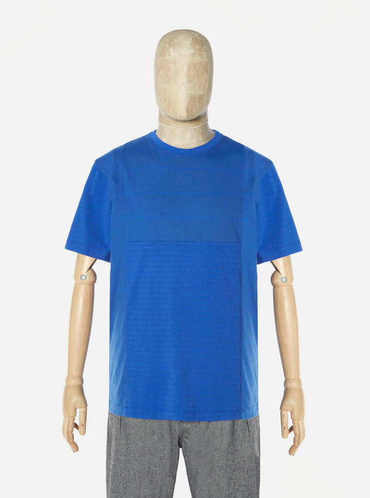 The Pilgrm x Universal Works Panel Tee in Dazzling Blue Single Jersey
