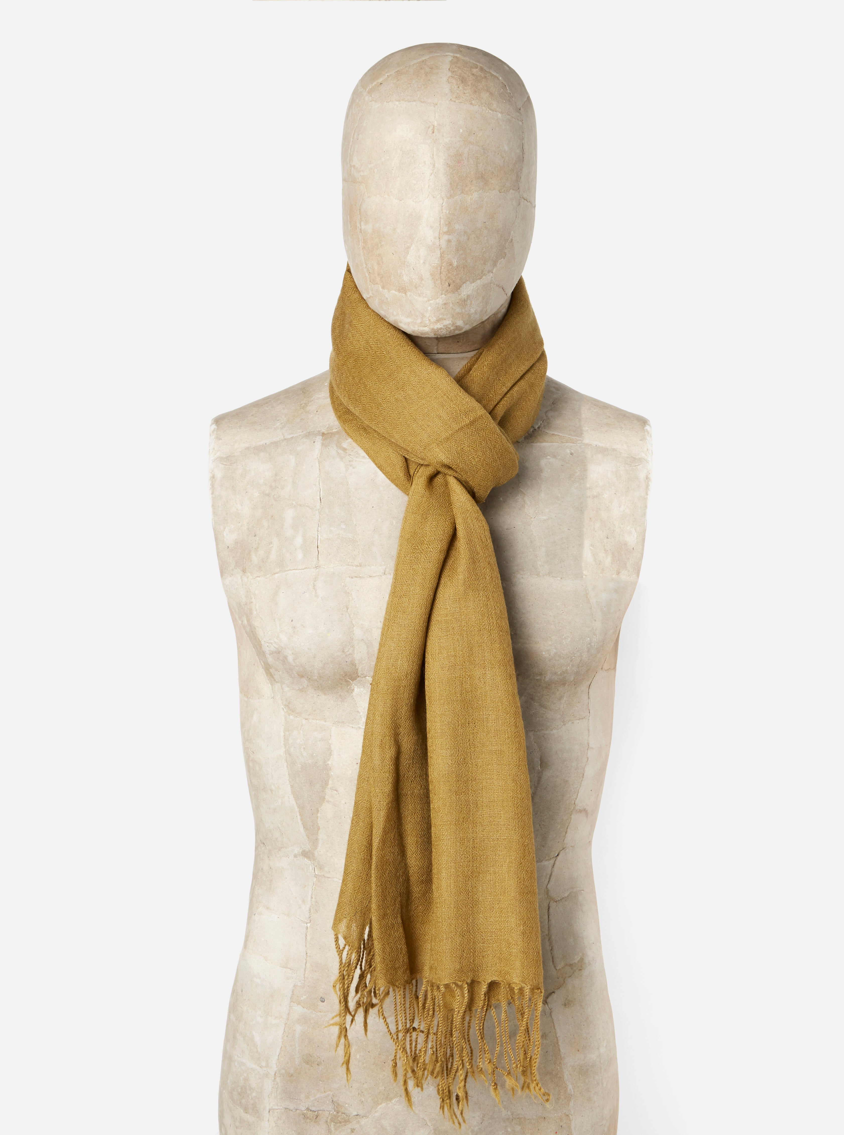 Universal Works Pashmina Scarf in Taupe Wool