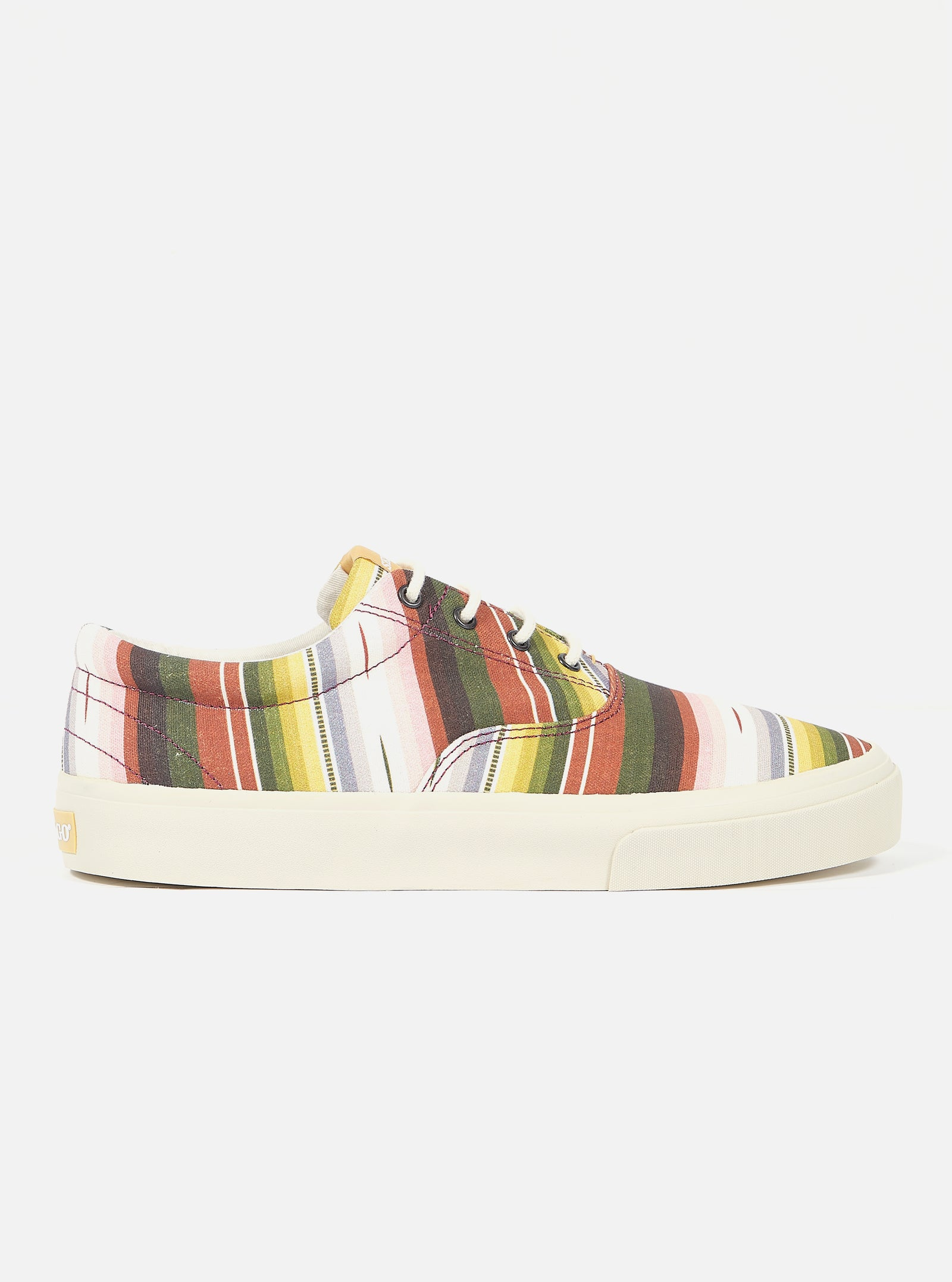 Universal Works x Sebago John in Mex Blanket/Multi Stripe