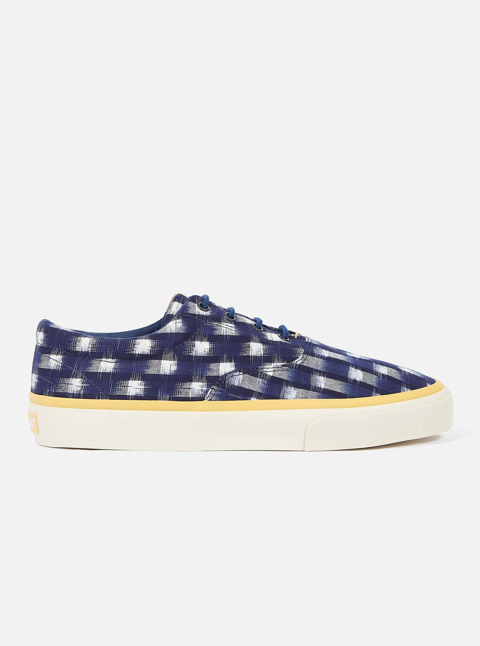 Universal Works x Sebago John in Indigo Double Ikat Square
