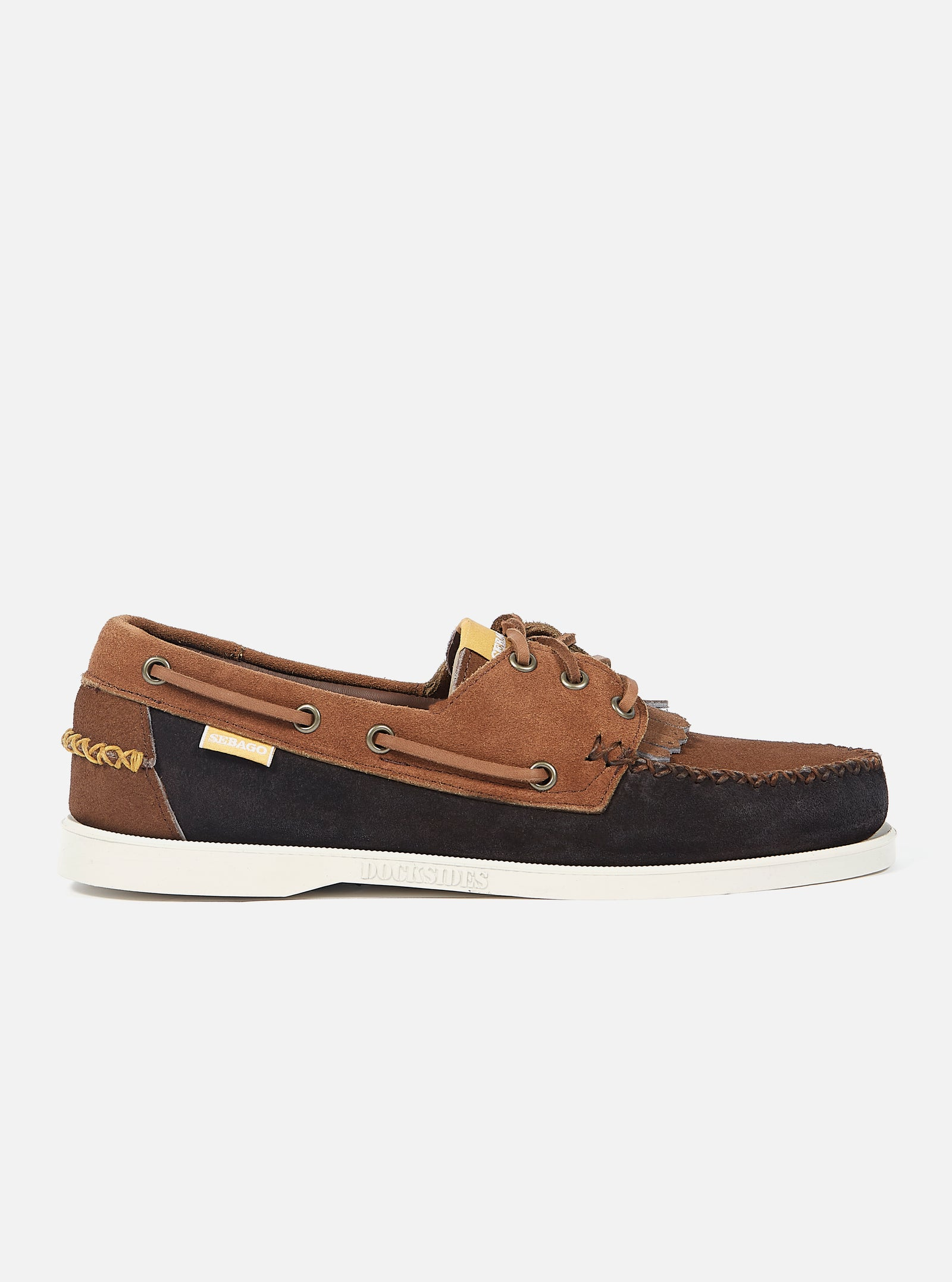 Universal Works x Sebago Portland Multi-Tone in Dark Brown Suede
