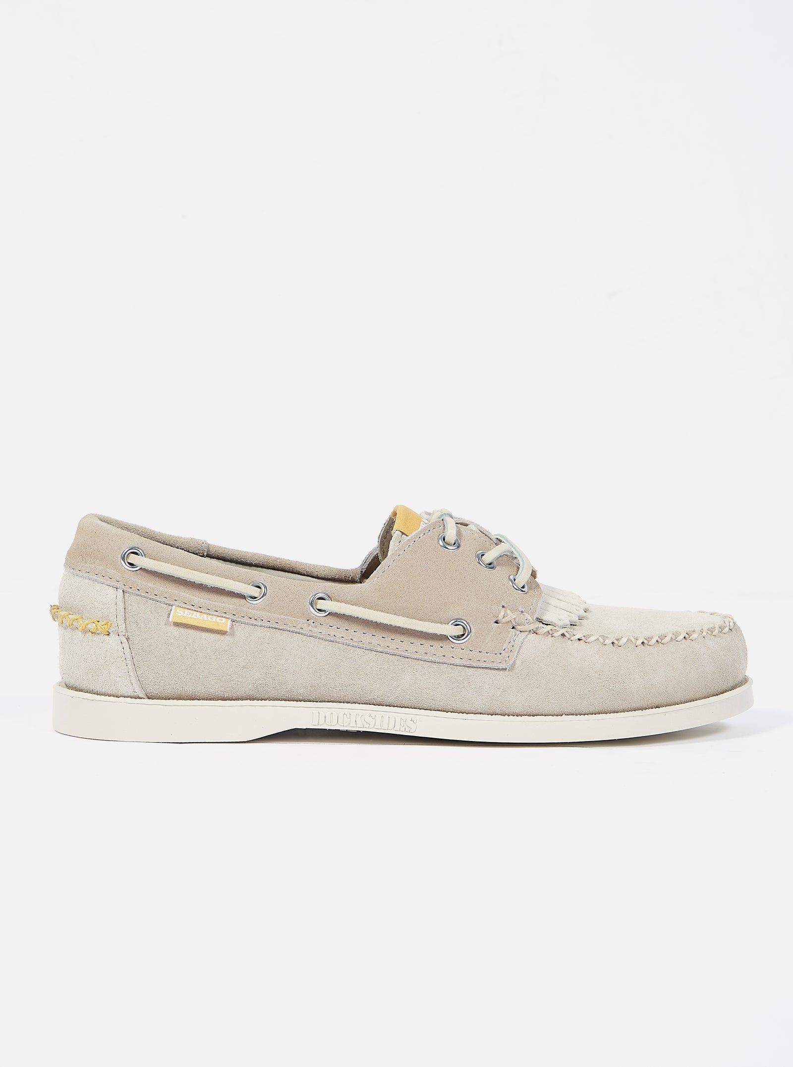 Universal Works x Sebago Portland Multi-Tone in Cream Suede