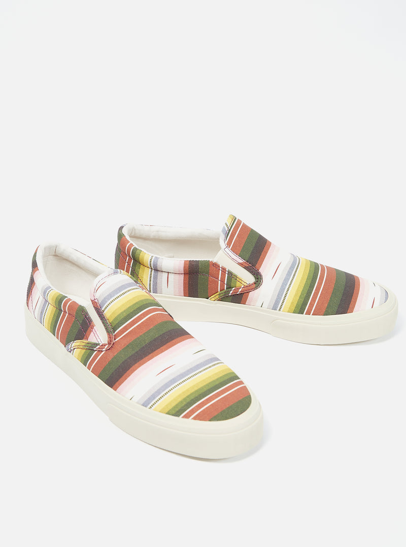 Universal Works x Sebago Jack in Mex Blanket/Multi Stripe
