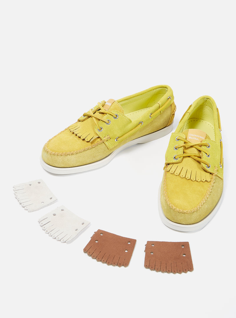 Universal Works x Sebago Portland Multi-Tone in Yellow Suede