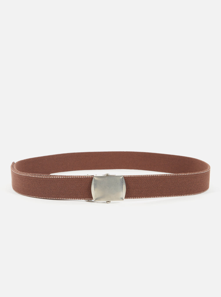 Universal Works Canvas Belt in Raisin Plain Weave Canvas