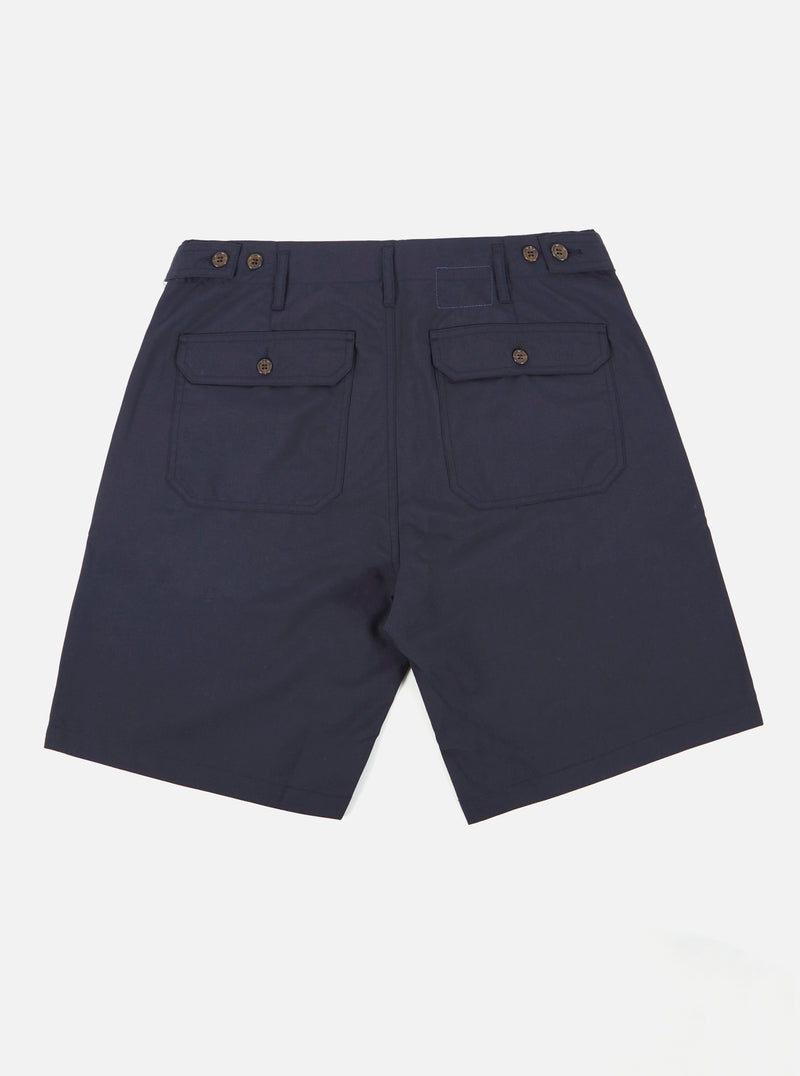 Universal Works Loose Short in Navy Tropical Suiting