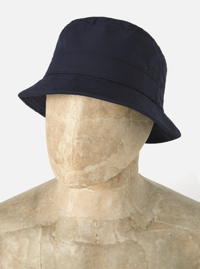 Universal Works Bucket Hat in Navy Tropical Suiting
