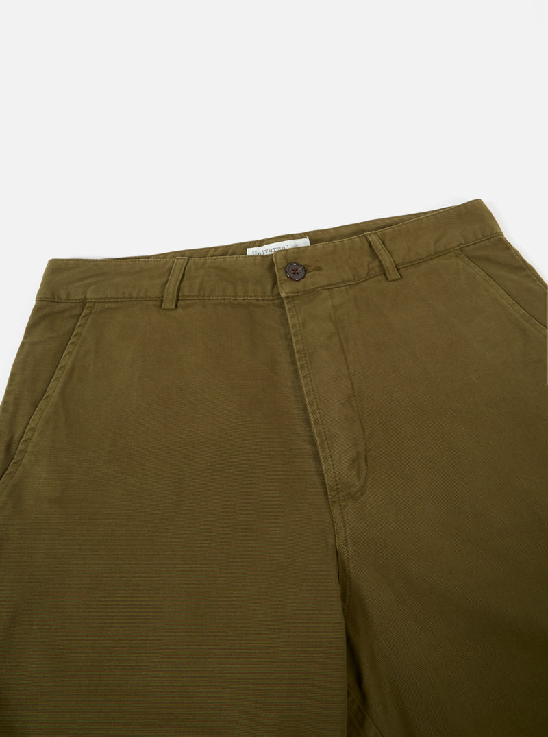 Deck Short in Light Olive Canvas