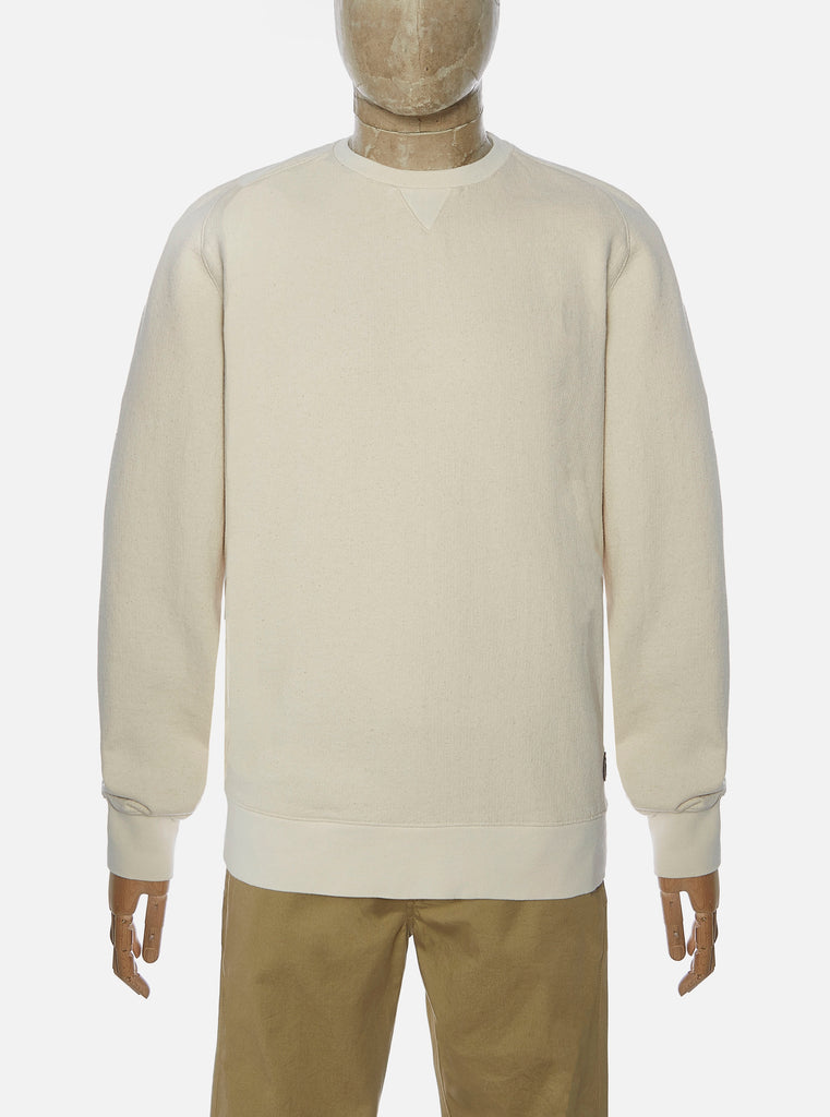 Universal Works Classic Crew Sweatshirt in Ecru Dry Handle Loopback