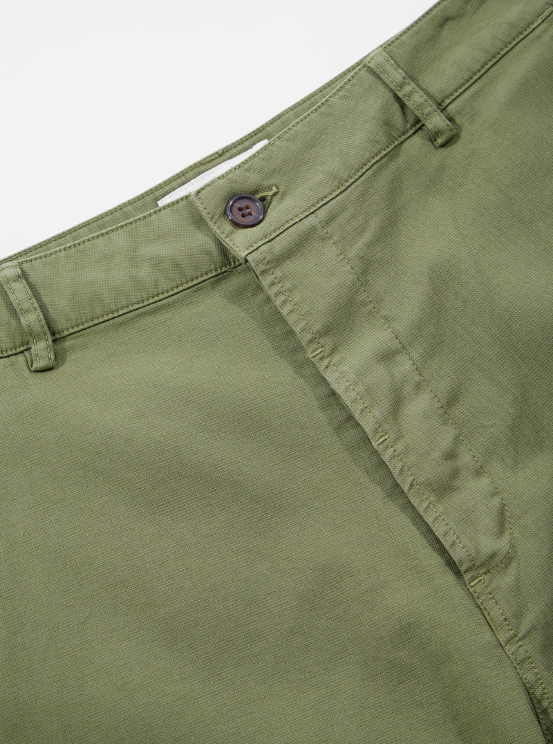 Universal Works Military Chino in Olive Fine Weave Cotton