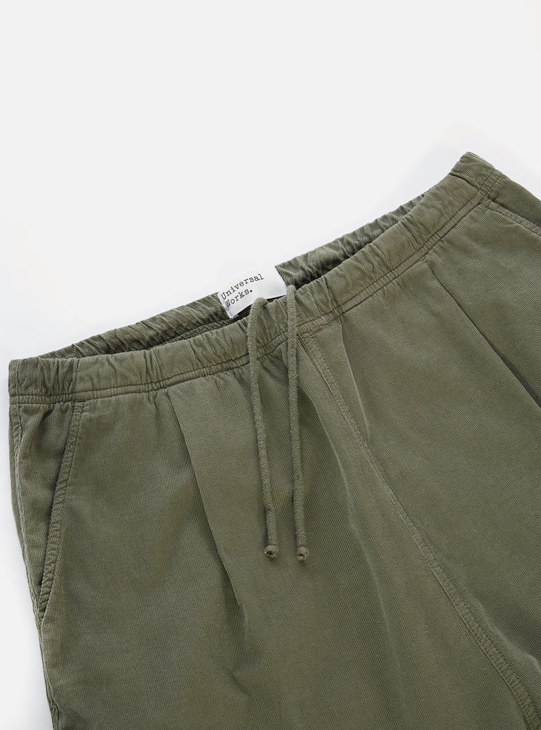 Universal Works Kyoto Work Pant in Bright Olive Needle Cord