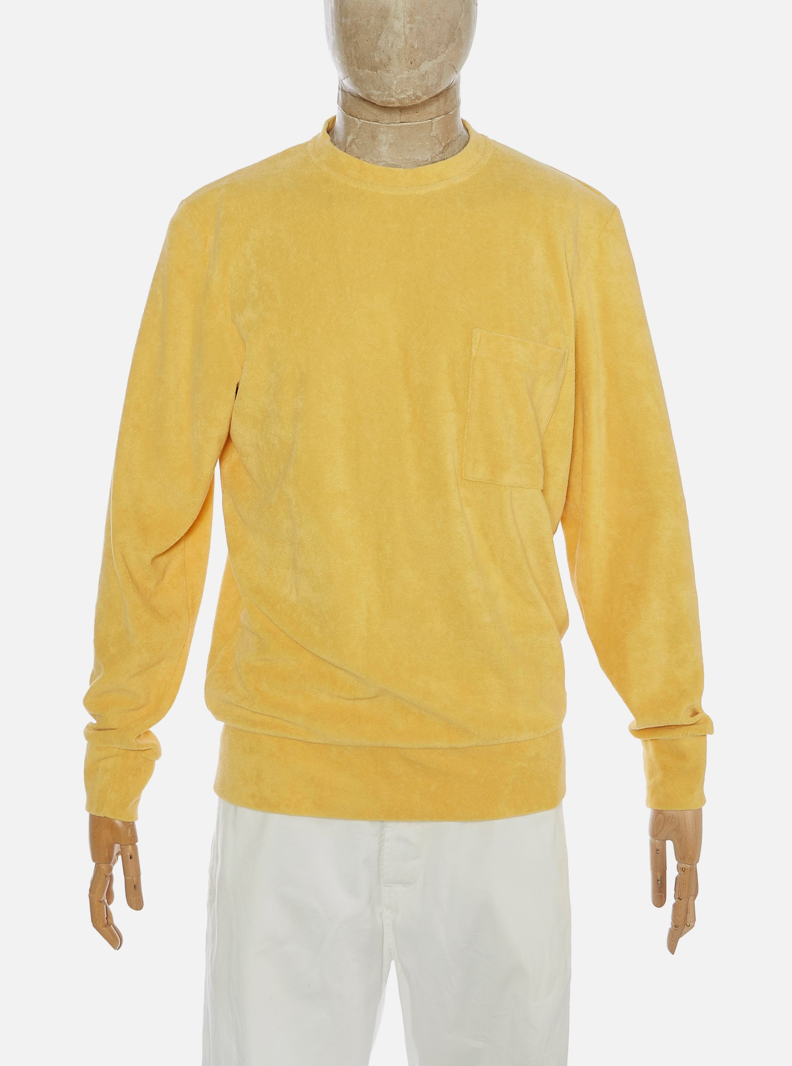 Universal Works Loose Pullover in Gold Terry Fleece