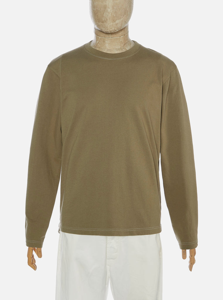 Universal Works L/S Crew in Bright Olive Save That Jersey