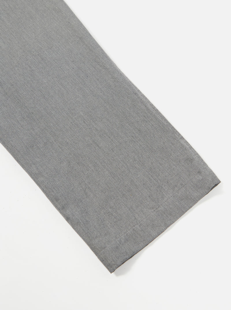 Universal Works Aston Pant in Grey Washed Cotton Suiting