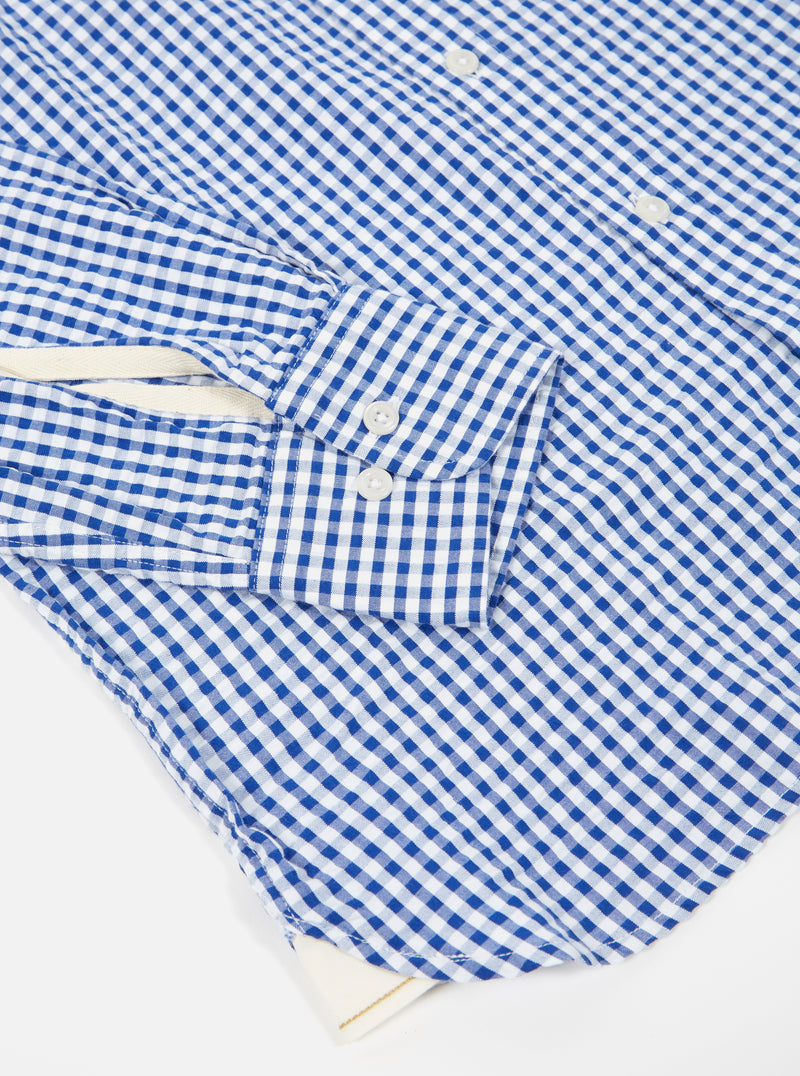 Universal Works Everyday Shirt in Blue Gingham Seersucker