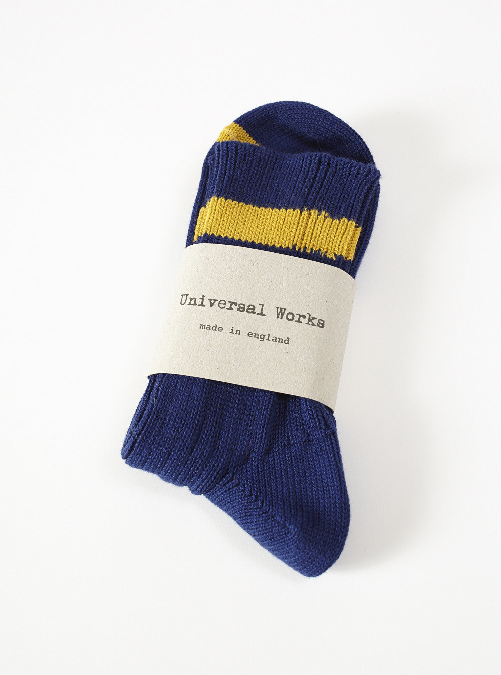 Universal Works Summer Sock In Navy Cotton