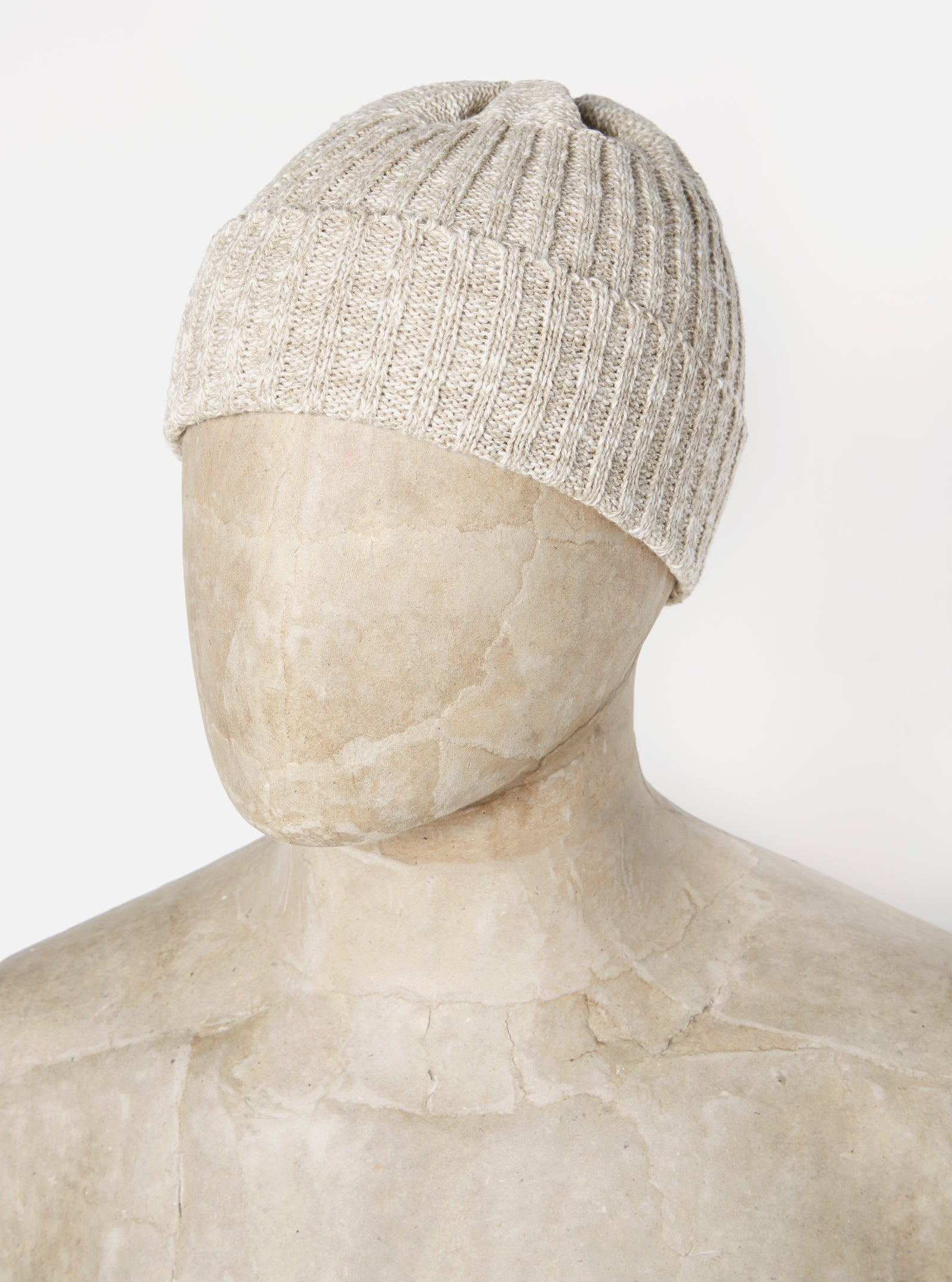 Universal Works Rib Hat in Natural Linen/Cotton