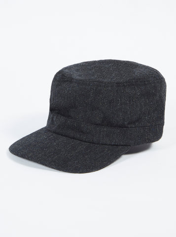 UW x H.W.Dog Field Cap in Gray Wool Cotton