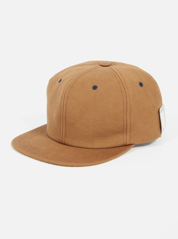 UW x H.W.Dog Snapback Cap in Brown British Cotton