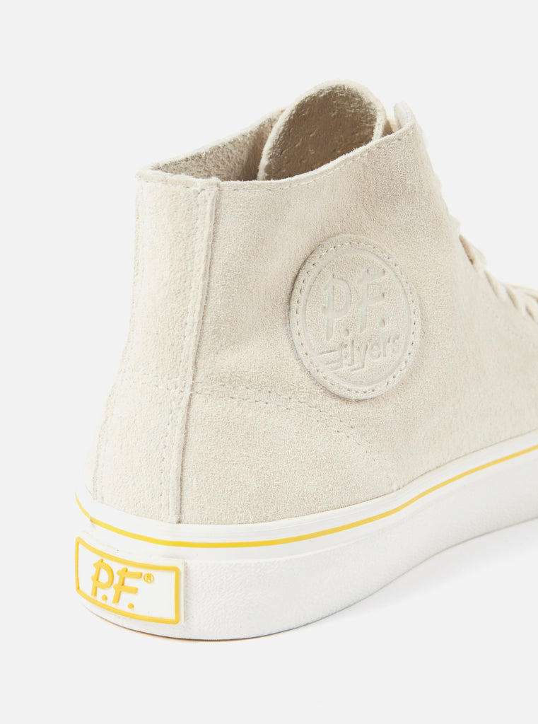 Universal Works x P.F. Flyers Center Hi in Ecru Suede