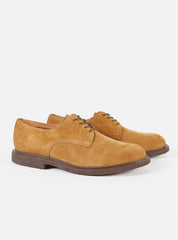 Universal Works x Sanders Plain Gibson in Tan Suede