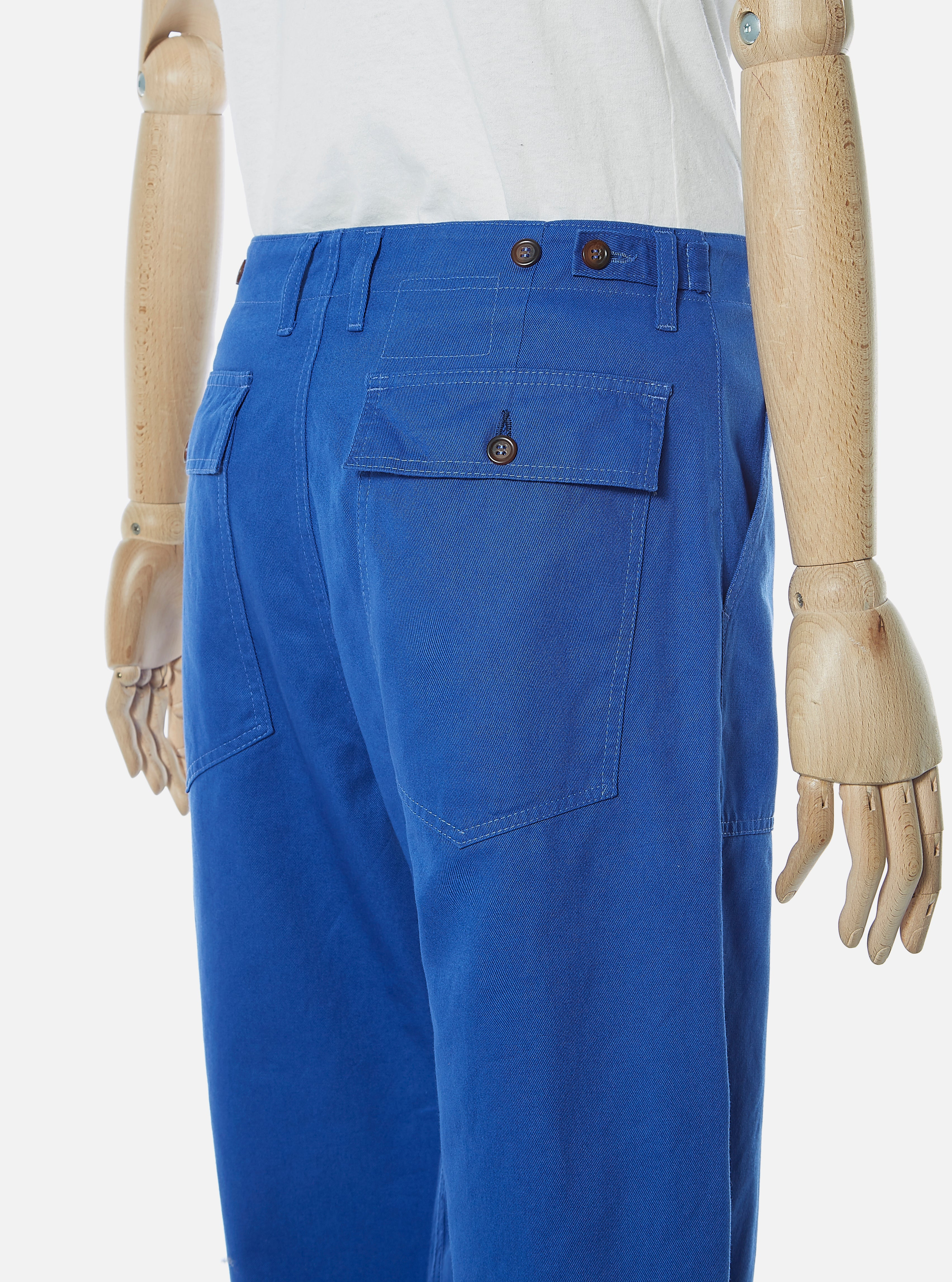 Universal Works Fatigue Pant in Royal Blue Byron Twill