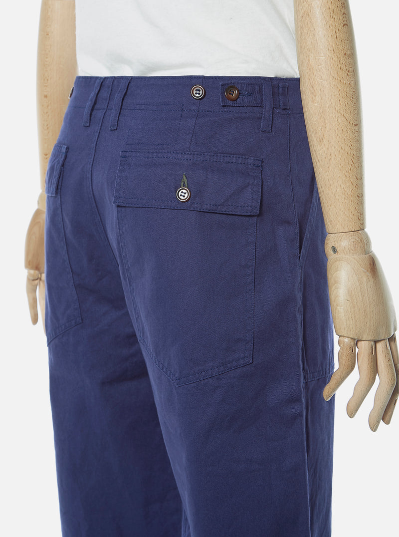 Universal Works Fatigue Pant in Work Blue Byron Twill