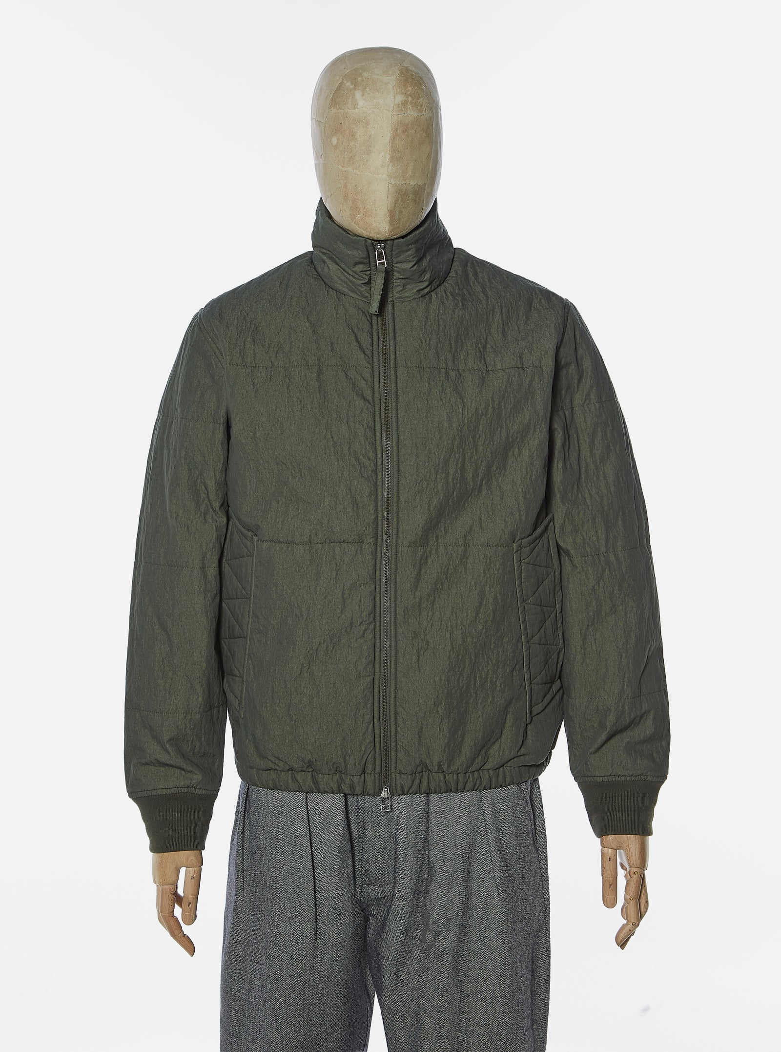Universal Works Padded Jacket in Olive Washed 70/30