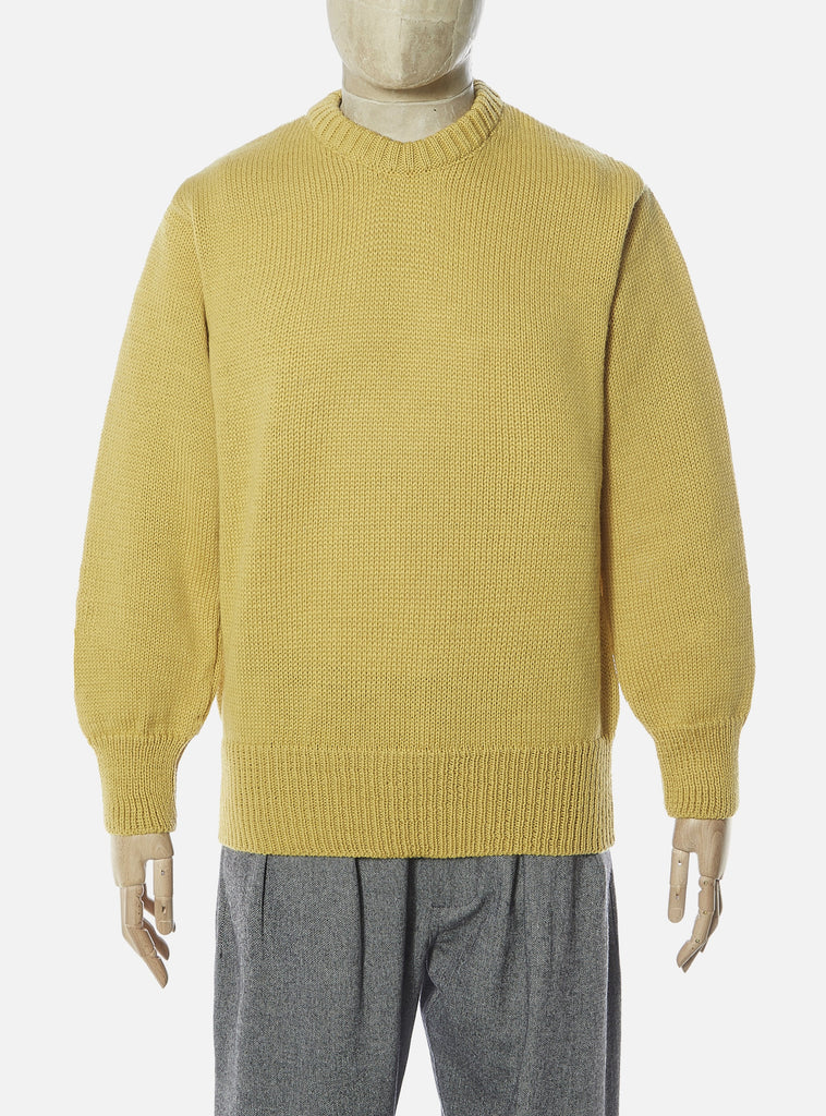 Universal Works Loose Crew in Gold British Wool