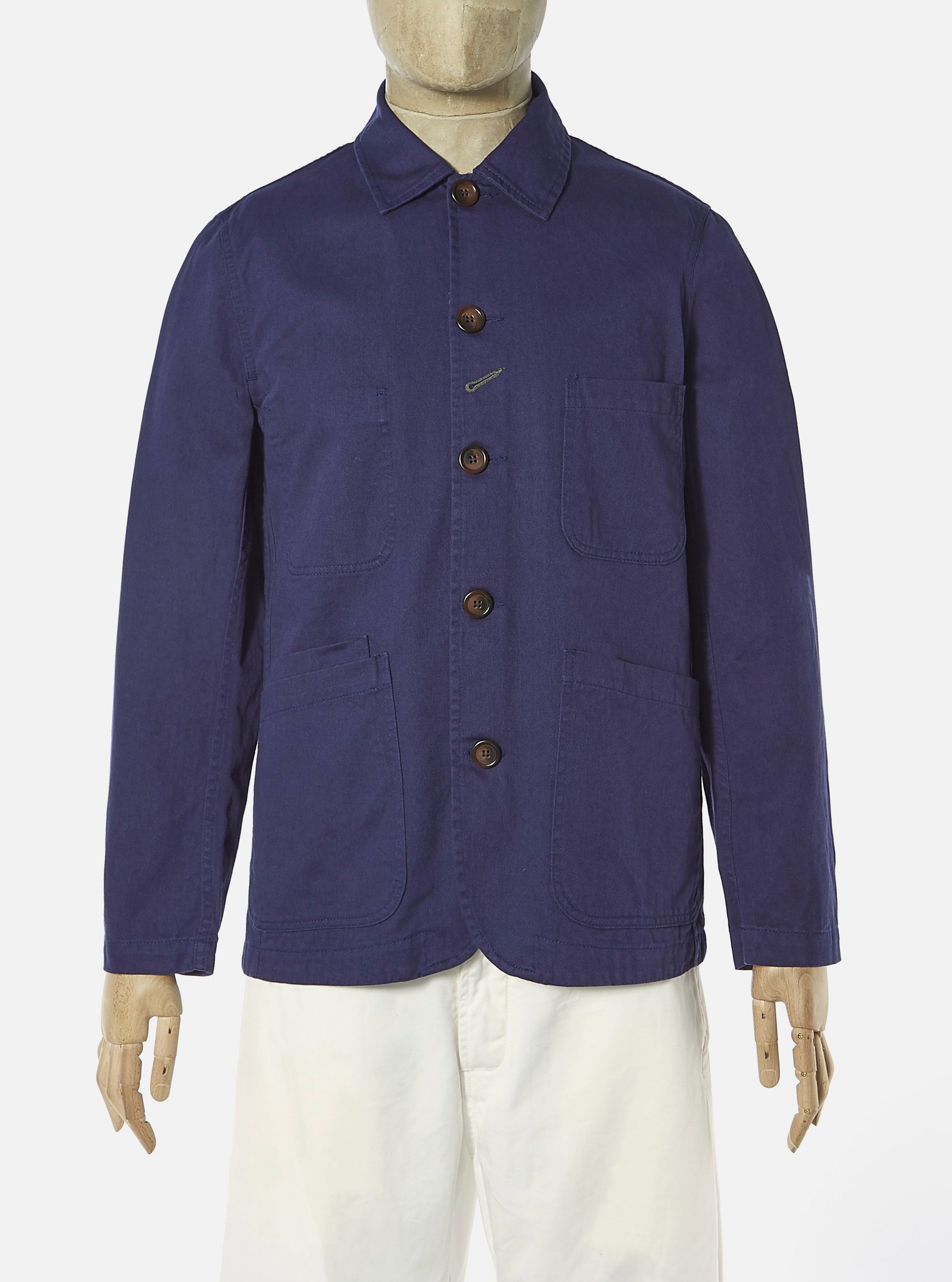 Universal Works Suit Jacket in Work Blue Byron Twill