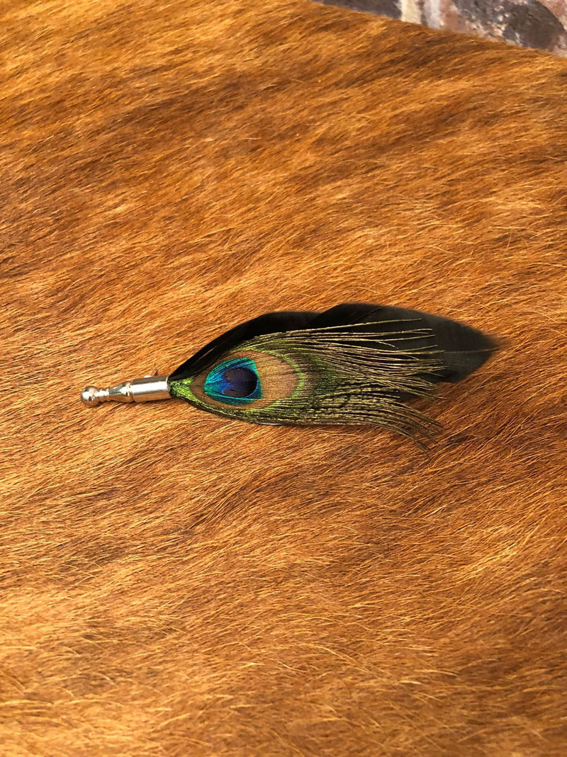 Feather Lapel Pin 1 - Black