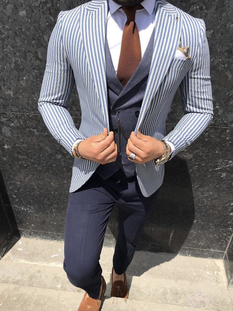 Aldrin - Blue 3 Piece Suit