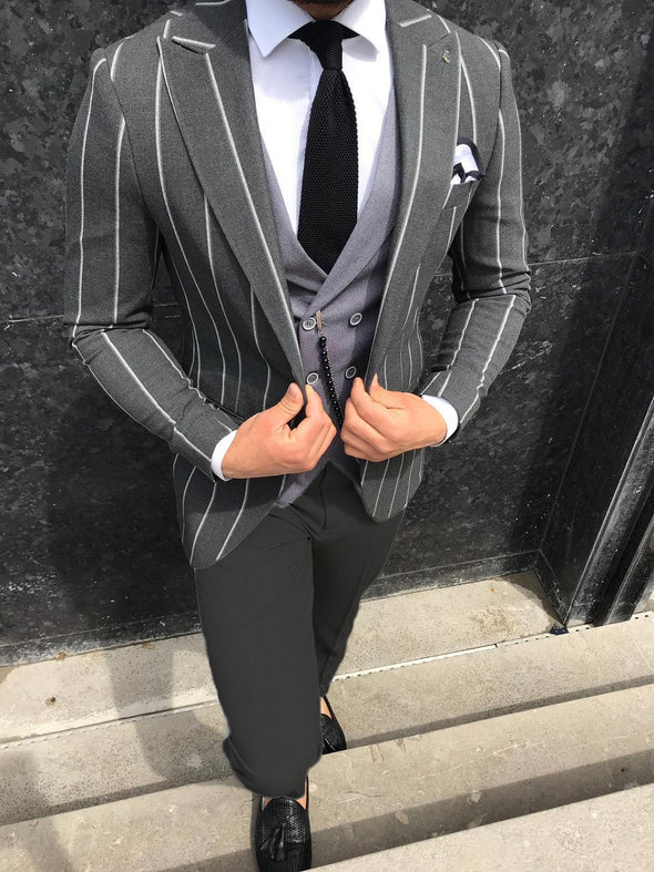 Cole - Dark Grey 3 Piece Suit