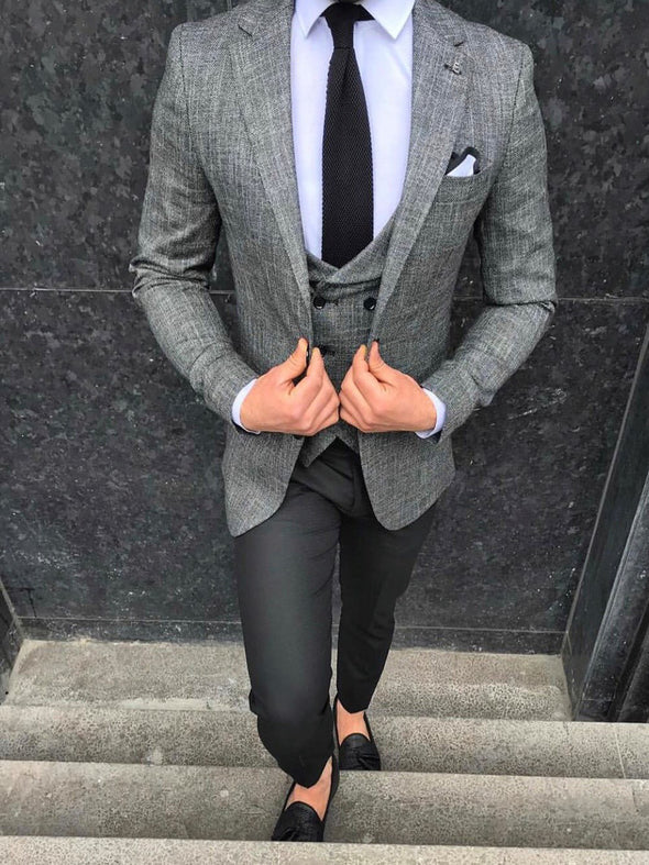 Keenan - Dark Grey 3 Piece Suit