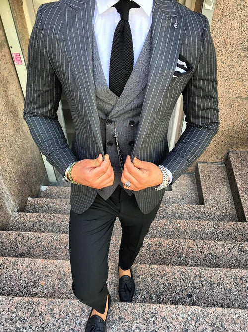 Fargo - Dark Grey 3 Piece Suit