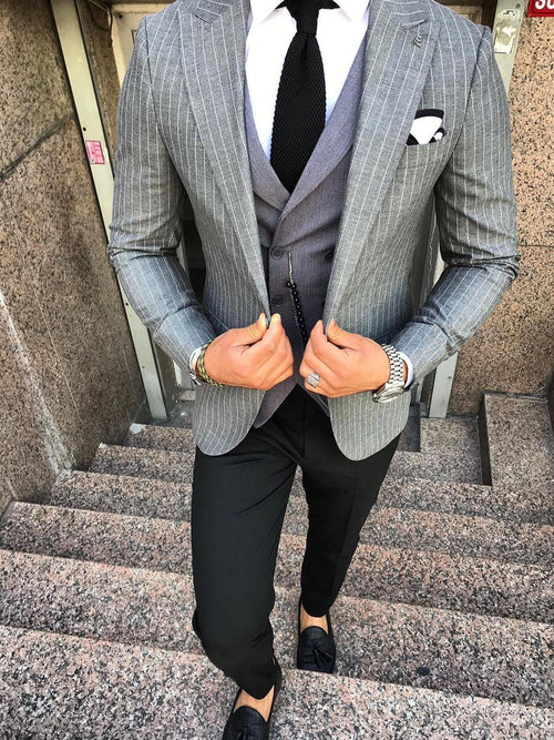 Fargo - Light Grey 3 Piece Suit