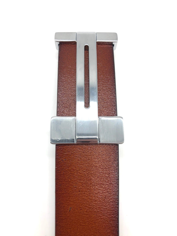 Leather H Belt - Tan