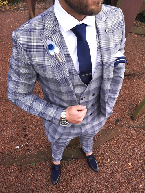 Elroy - Navy 3 Piece Suit