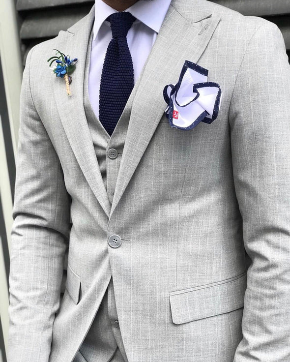 Jacob - Light Grey 3 Piece Suit