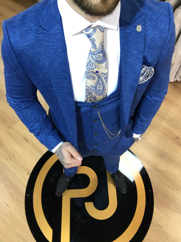 Neptune - Blue 3 Piece Suit
