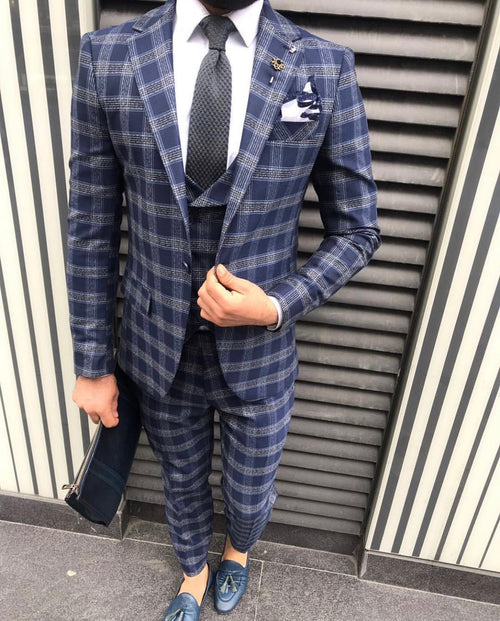 Morty - Navy 3 Piece Suit