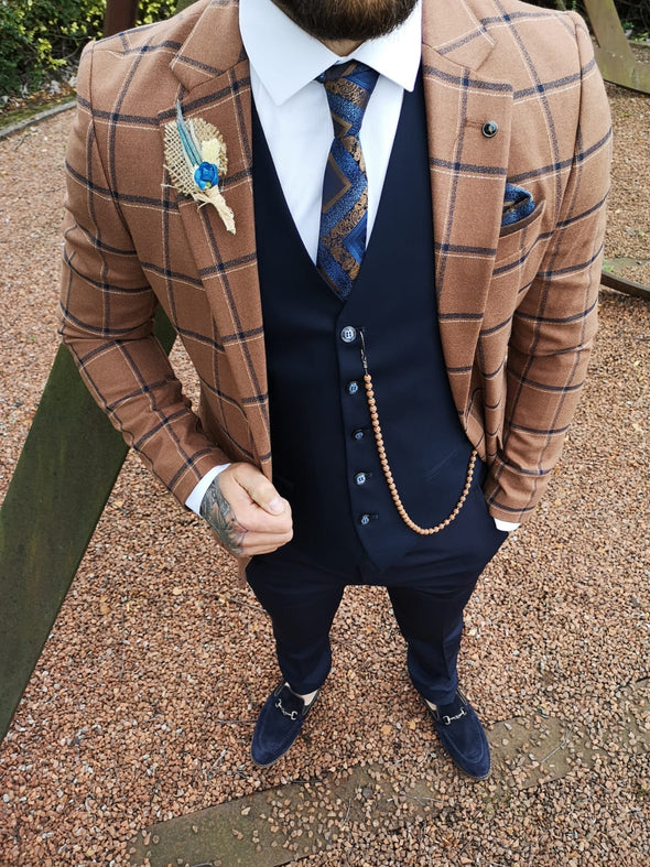 Domingo - Rust 3 Piece Suit