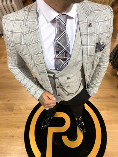 Marlin - Grey 3 Piece Suit
